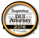 Badge for Superior DUI Attorney 2016